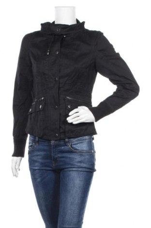 Дамско яке Sisley, Размер S, Цвят Черен, 96% памук, 4% метални нишки, Цена 33,92лв.