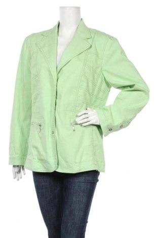 Дамско яке Thea Plus, Размер XXL, Цвят Зелен, 60% памук, 37% полиестер, 3% еластан, Цена 37,91лв.