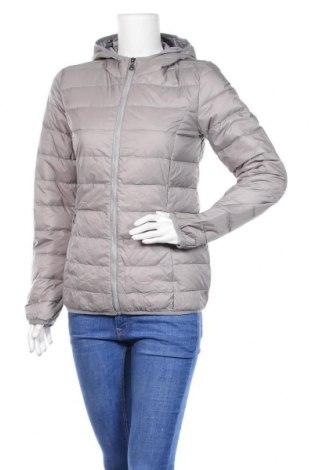 Γυναικείο μπουφάν Up 2 Fashion, Μέγεθος S, Χρώμα Γκρί, Πολυεστέρας, φτερά και πούπουλα, Τιμή 30,39€