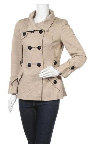 Дамско яке Zara, Размер L, Цвят Бежов, 98% памук, 2% еластан, Цена 25,14лв.