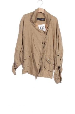 Дамско яке Zara, Размер XS, Цвят Бежов, 100% лиосел, Цена 11,17лв.
