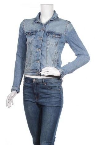 Дамско яке Zara, Размер S, Цвят Син, 98% памук, 2% еластан, Цена 31,42лв.