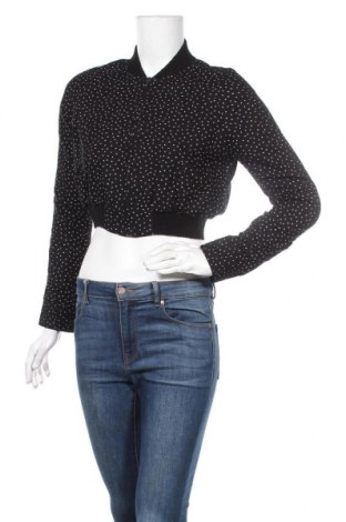 Дамско яке Zara Trafaluc, Размер L, Цвят Черен, Вискоза, Цена 34,65лв.