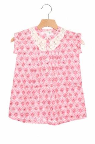 Детска рокля United Colors Of Benetton, Размер 6-9m/ 68-74 см, Цвят Розов, Памук, Цена 12,25лв.