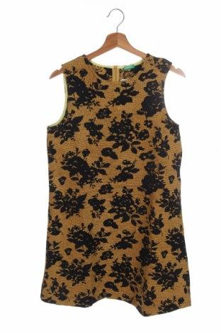 Παιδικό φόρεμα United Colors Of Benetton, Μέγεθος 14-15y/ 168-170 εκ., Χρώμα Κίτρινο, 54% πολυεστέρας, 37%ακρυλικό, 9% βαμβάκι, Τιμή 8,84€