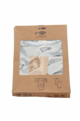 Παιδικό σύνολο Cotton Fish, Μέγεθος 2-3m/ 56-62 εκ., Χρώμα Μπλέ, Βαμβάκι, Τιμή 18,25€