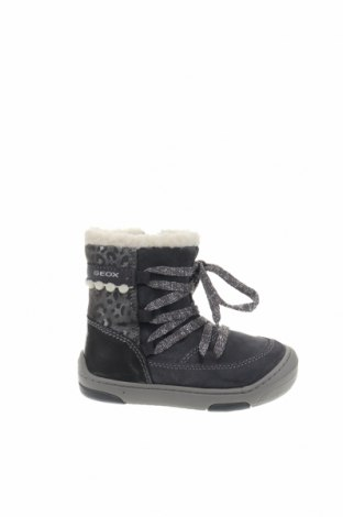 Παιδικά παπούτσια Geox, Μέγεθος 23, Χρώμα Γκρί, Φυσικό σουέτ, Τιμή 48,54€
