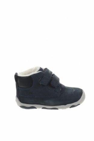 Παιδικά παπούτσια Geox, Μέγεθος 21, Χρώμα Μπλέ, Γνήσιο δέρμα, Τιμή 26,38€