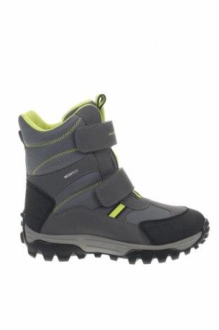 Παιδικά παπούτσια Geox, Μέγεθος 34, Χρώμα Γκρί, Δερματίνη, κλωστοϋφαντουργικά προϊόντα, Τιμή 61,34€