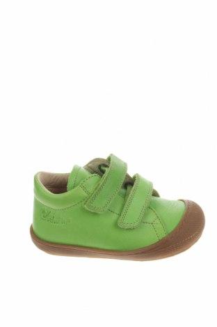 Παιδικά παπούτσια Naturino, Μέγεθος 22, Χρώμα Πράσινο, Γνήσιο δέρμα, Τιμή 46,54€