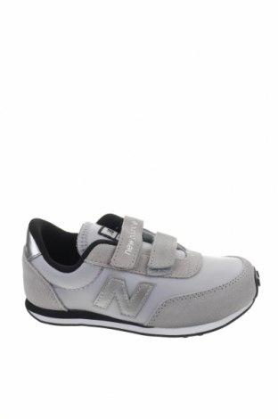 Παιδικά παπούτσια New Balance, Μέγεθος 29, Χρώμα Γκρί, Φυσικό σουέτ, κλωστοϋφαντουργικά προϊόντα, Τιμή 35,72€