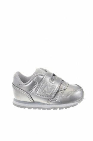 Παιδικά παπούτσια New Balance, Μέγεθος 20, Χρώμα Γκρί, Δερματίνη, Τιμή 30,54€