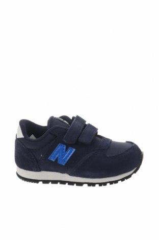 Παιδικά παπούτσια New Balance, Μέγεθος 21, Χρώμα Μπλέ, Φυσικό σουέτ, κλωστοϋφαντουργικά προϊόντα, Τιμή 34,41€