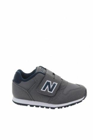 Παιδικά παπούτσια New Balance, Μέγεθος 23, Χρώμα Γκρί, Κλωστοϋφαντουργικά προϊόντα, δερματίνη, Τιμή 30,54€