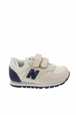 Παιδικά παπούτσια New Balance, Μέγεθος 20, Χρώμα Εκρού, Φυσικό σουέτ, κλωστοϋφαντουργικά προϊόντα, Τιμή 34,41€