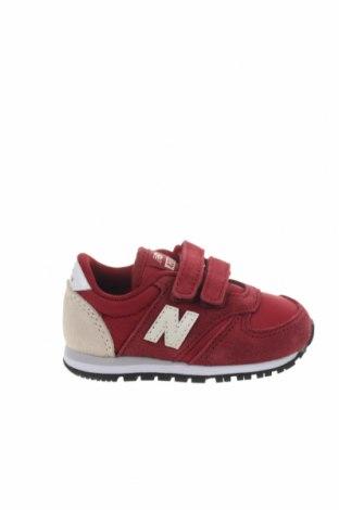 Παιδικά παπούτσια New Balance, Μέγεθος 20, Χρώμα Κόκκινο, Φυσικό σουέτ, κλωστοϋφαντουργικά προϊόντα, Τιμή 24,32€