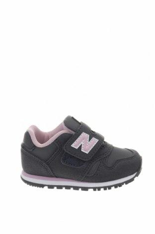 Παιδικά παπούτσια New Balance, Μέγεθος 21, Χρώμα Γκρί, Κλωστοϋφαντουργικά προϊόντα, δερματίνη, Τιμή 30,54€