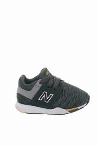 Παιδικά παπούτσια New Balance, Μέγεθος 20, Χρώμα Πράσινο, Πολυουρεθάνης, δερματίνη, κλωστοϋφαντουργικά προϊόντα, Τιμή 30,54€