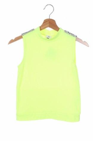 Μπλουζάκι αμάνικο παιδικό River Island, Μέγεθος 11-12y/ 152-158 εκ., Χρώμα Πράσινο, 63% πολυεστέρας, 31% βισκόζη, 6% ελαστάνη, Τιμή 6,12€