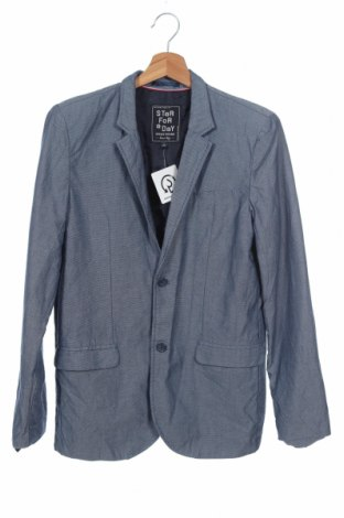 Παιδικό σακάκι Here+There, Μέγεθος 15-18y/ 170-176 εκ., Χρώμα Μπλέ, Βαμβάκι, Τιμή 14,62€