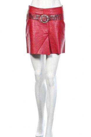 Δερμάτινη φούστα Fabiani, Μέγεθος S, Χρώμα Κόκκινο, Γνήσιο δέρμα, Τιμή 13,51€