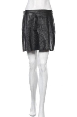 Δερμάτινη φούστα Kookai, Μέγεθος M, Χρώμα Μαύρο, Γνήσιο δέρμα, Τιμή 7,73€