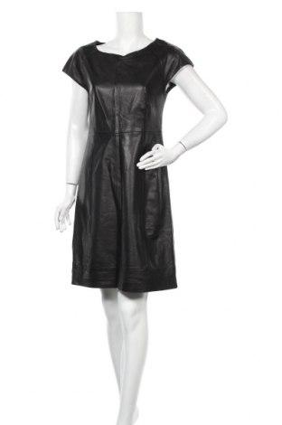 Δερμάτινο φόρεμα Hallhuber, Μέγεθος M, Χρώμα Μαύρο, Γνήσιο δέρμα, Τιμή 58,62€