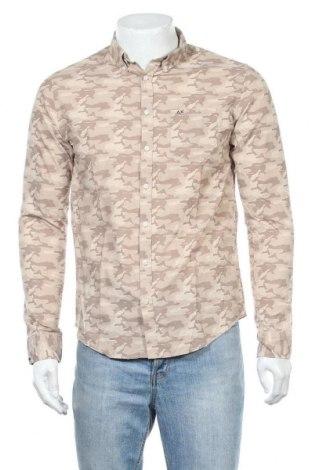 Ανδρικό πουκάμισο SUN68, Μέγεθος S, Χρώμα  Μπέζ, Βαμβάκι, Τιμή 8,14€