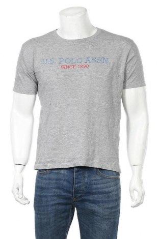 Ανδρικό t-shirt U.S. Polo Assn., Μέγεθος M, Χρώμα Γκρί, Τιμή 12,47€