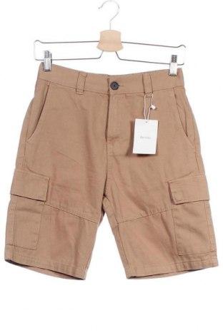Pantaloni scurți de bărbați Bershka, Mărime XS, Culoare Bej, Bumbac, Preț 13,00 Lei