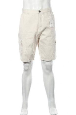 Ανδρικό κοντό παντελόνι Bershka, Μέγεθος L, Χρώμα  Μπέζ, Βαμβάκι, Τιμή 18,09€