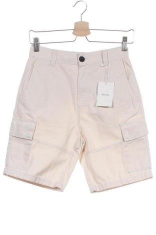 Ανδρικό κοντό παντελόνι Bershka, Μέγεθος XS, Χρώμα  Μπέζ, Βαμβάκι, Τιμή 2,50€