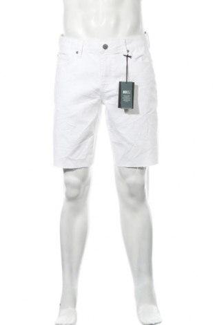 Pantaloni scurți de bărbați Only & Sons, Mărime L, Culoare Alb, 79% bumbac, 20% poliester, 1% elastan, Preț 40,30 Lei