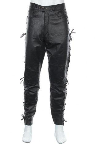 Ανδρικό δερμάτινο παντελόνι Berto Lucci, Μέγεθος L, Χρώμα Μαύρο, Γνήσιο δέρμα, Τιμή 48,06€