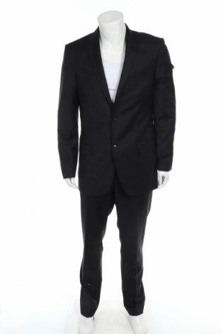 Мъжки костюм, Размер L, Цвят Черен, 70% вълна, 30% полиестер, Цена 54,75лв.
