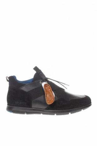 Ανδρικά παπούτσια Birkenstock, Μέγεθος 46, Χρώμα Μαύρο, Γνήσιο δέρμα, κλωστοϋφαντουργικά προϊόντα, Τιμή 80,80€