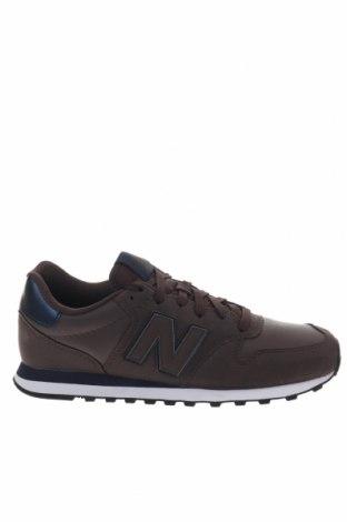 Ανδρικά παπούτσια New Balance, Μέγεθος 42, Χρώμα Καφέ, Κλωστοϋφαντουργικά προϊόντα, δερματίνη, Τιμή 65,33€