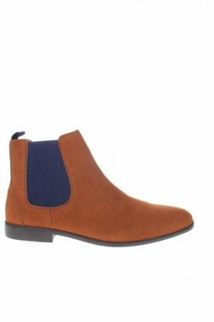 Ανδρικά παπούτσια Pier One, Μέγεθος 48, Χρώμα Καφέ, Κλωστοϋφαντουργικά προϊόντα, Τιμή 28,50€