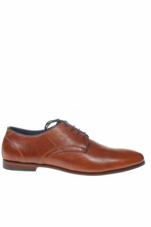 Ανδρικά παπούτσια Pier One, Μέγεθος 48, Χρώμα Καφέ, Γνήσιο δέρμα, Τιμή 46,54€