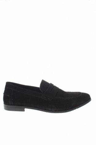 Ανδρικά παπούτσια Pier One, Μέγεθος 48, Χρώμα Μαύρο, Φυσικό σουέτ, Τιμή 49,87€
