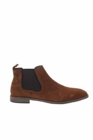 Ανδρικά παπούτσια Pier One, Μέγεθος 48, Χρώμα Καφέ, Φυσικό σουέτ, Τιμή 50,16€