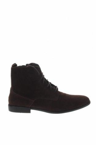 Ανδρικά παπούτσια Pier One, Μέγεθος 48, Χρώμα Καφέ, Κλωστοϋφαντουργικά προϊόντα, Τιμή 26,47€
