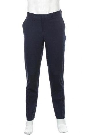 Мъжки панталон, Размер L, Цвят Син, 77% полиестер, 20% вискоза, 3% еластан, Цена 15,02лв.