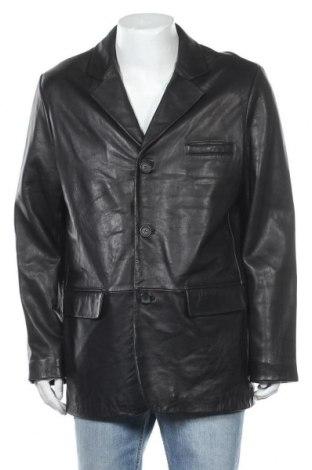 Ανδρικό δερμάτινο σακάκι Yorn, Μέγεθος L, Χρώμα Μαύρο, Γνήσιο δέρμα, Τιμή 17,96€