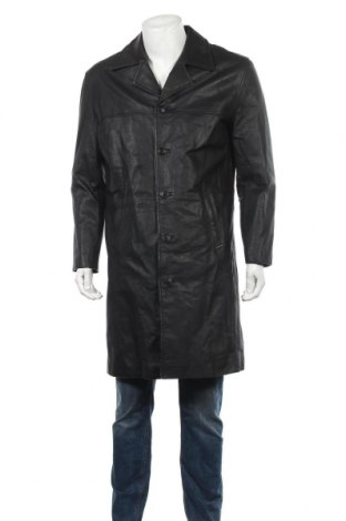 Pánská kožená bunda  Angelo Litrico, Velikost S, Barva Černá, Pravá kůže, Cena  676,00Kč