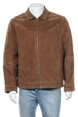 Ανδρικό δερμάτινο μπουφάν Faded Glory, Μέγεθος L, Χρώμα Καφέ, Φυσικό σουέτ, Τιμή 22,80€