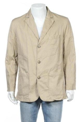 Мъжко сако H&M L.O.G.G., Размер L, Цвят Бежов, Памук, Цена 25,52лв.