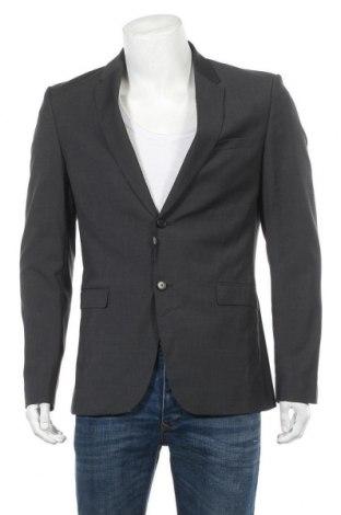 Ανδρικό σακάκι Zara, Μέγεθος L, Χρώμα Γκρί, 55% μαλλί, 41% πολυεστέρας, 4% ελαστάνη, Τιμή 12,50€