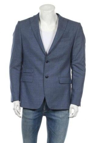 Ανδρικό σακάκι Zara Man, Μέγεθος L, Χρώμα Μπλέ, Τιμή 13,36€