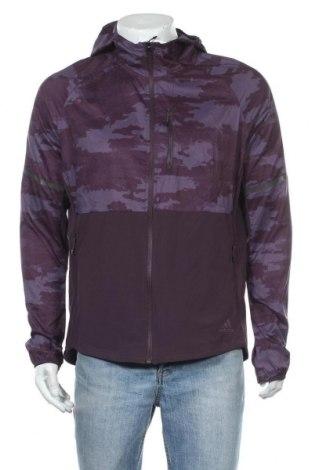 Ανδρικό αθλητικό μπουφάν Adidas, Μέγεθος L, Χρώμα Βιολετί, Πολυεστέρας, Τιμή 51,83€